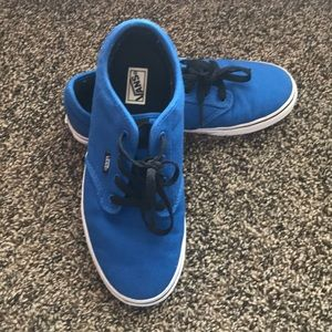 Authentic-Style Royal Blue Vans; Nearly New